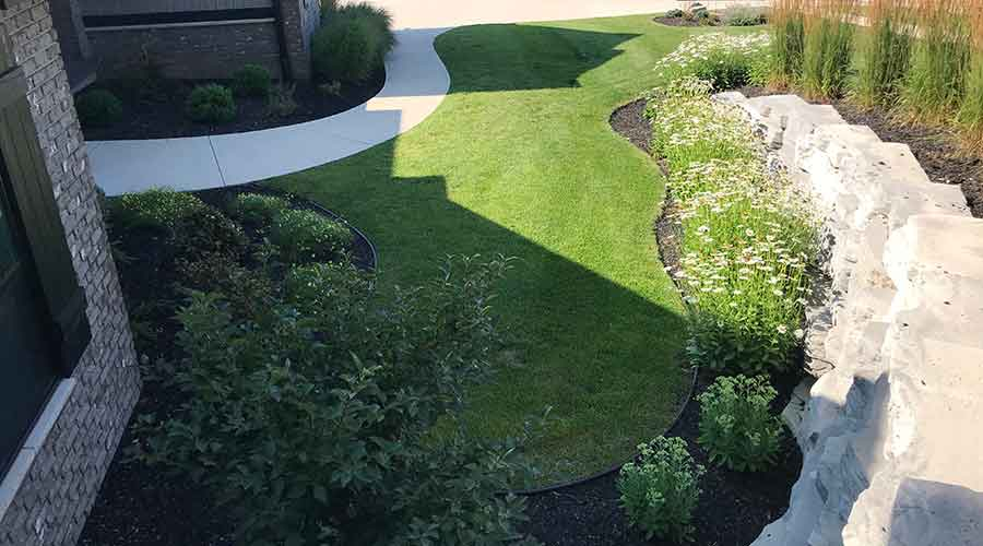 Retaining Walls and Plantings