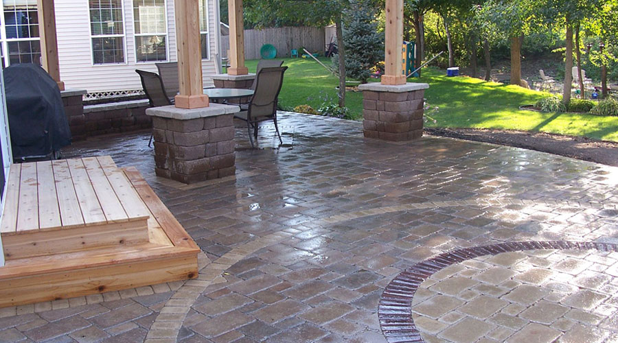 patios and pavers and edging